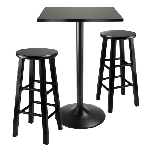 Winsome Obsidian 3-Piece Pub Table Set (Table Chairs Sale Pub)