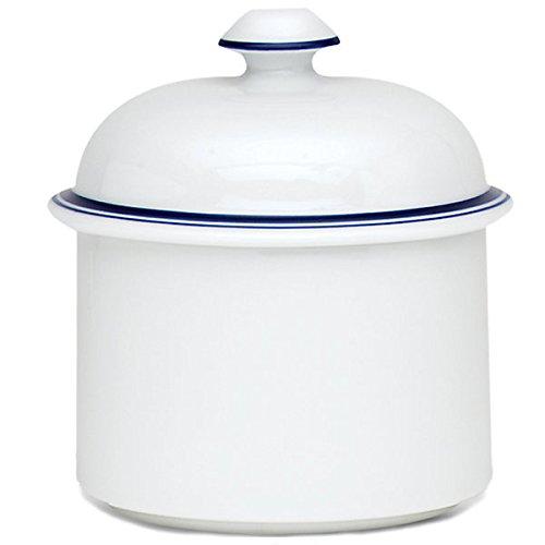 Dansk International CHRISTIANSHAVN Bistro Sugar Bowl & Lid White with Blue (Dansk Christianshavn Blue Bistro)