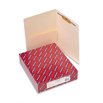 Smead® Heavyweight Manila End Tab Pocket Folder with Fastener FOLDER,SHLF,ST,LTR,W/PCKT (Pack - End Heavyweight Manila