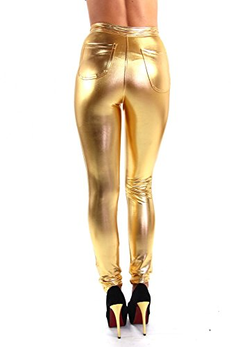 Super skinny Disco Pant Gold