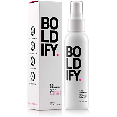 BOLDIFY Hair Thickening Spray-60 Second Hair Thickener for Fine Hair-Stylist Recommended Hair Thickening Products for Women and Men-Hair Volumizer+Texturizing Spray for Hair Volume and Root Lift