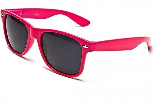 Sunglasses Classic 80's Vintage Style Design (Neon Pink)