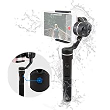FeiyuTech SPG 3-Axis Gimbal (Splash-Proof Version), with Smart Portrait Mode, Precisely Adaptable for iPhone, Samsung, HUIWEI Smart Phones GoPro HERO5 and Sports Cameras, 360 Degree Limitless Panning