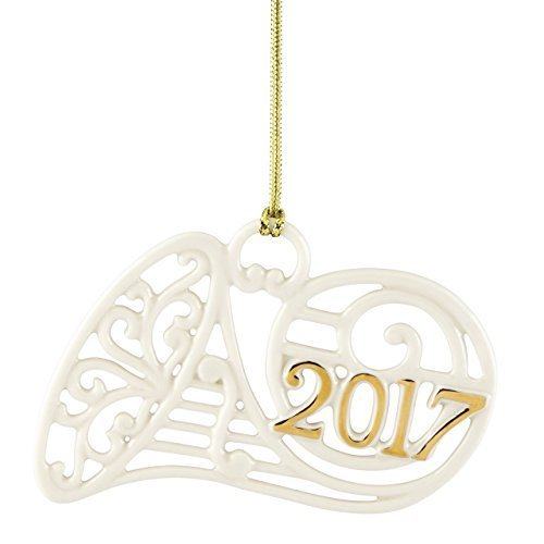 Lenox 869893  Annual China Ornaments 2017 A Year to Remember Horn