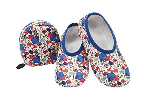 - Snoozies! Cute Prints Mixed Designs Plush Skinnies & Travel Pouch (Medium, Travel)