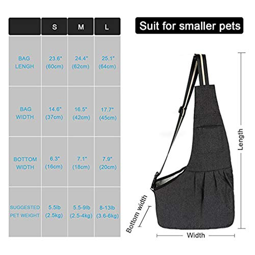 EBRICKON Pet Carrier Sling, Shoulder Bag Adjustable Slide Strap Small & Medium Dogs, Cats Rabbits, Hands-Free Outdoor Pet Carrier, Puppy Carrier Tragvel Bag by EBRICKON (Image #2)