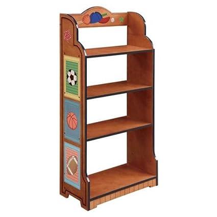 Kid ChildrenS Lil Sports Fan Bookshelf Bookcase Book Shelf Soccer Football