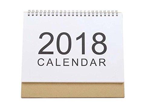 YLLY 2018DIY Calendrier Calendrier de Bureau Debout Plan Mémorandum pour Maison/Bureau