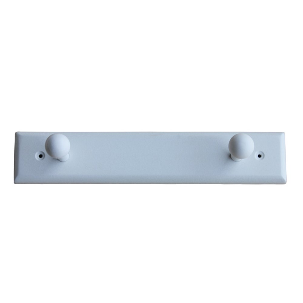 Personality Wall Hangers Solid Wood Hook Up Clothes Hooks Hangers Towel Rack White ( Size : 2 hooks )