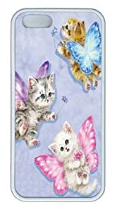 Butterfly Kitten Fairies Custom iPhone 5s/5 Case Cover TPU White by runtopwell