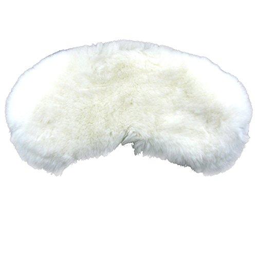 Wicked White Rabbit Adult Mask (MinkgLove Rex Rabbit Eye Mask, Velvety Soft Plush Feeling, Luxurious Rich Silk Lining, Comfort Fit, Pearl White, Unisex, Hand Tailored, Premium Fur)