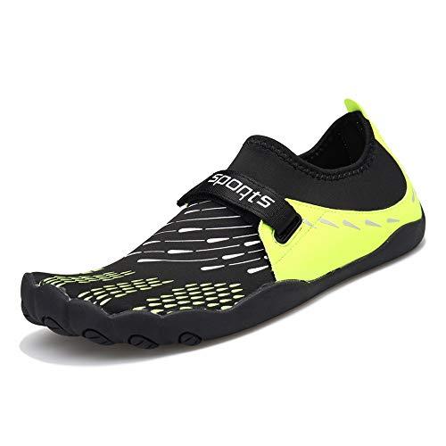 ZOEASHLEY Herren Damen Wandern Barfußschuhe Trekking Schuhe Sommer Ultraleicht Outdoor Fitnessschuhe mit Rutschfest Weiche Sohle Gr.36-46 Grün
