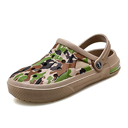 Amyneo Men's and Women's Classic Garden Clog Slip On Camouflage Sandals