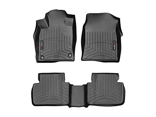 WeatherTech Custom Fit FloorLiner for Honda Civic Sedan/Hatchback - 1st & 2nd Row (Black)