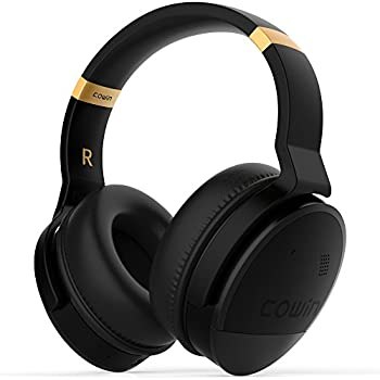 COWIN E8 Active Noise Cancelling Headphone Bluetooth Headphones with Mic Hi-Fi Deep Bass Wireless Headphones Over Ear Stereo Sound 20 Hour Playtime for ...