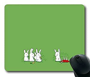 Carnivorous Rabbit Personlized Masterpiece Limited Design Oblong Mouse Pad by Cases & Mousepads
