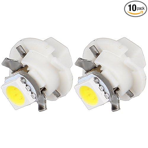 SCITOO 10 Pcs B8.4D Neo Wedge Halogen Light Bulbs Instrument Gauge Cluster Light Bulbs for A//C Climate Control Light