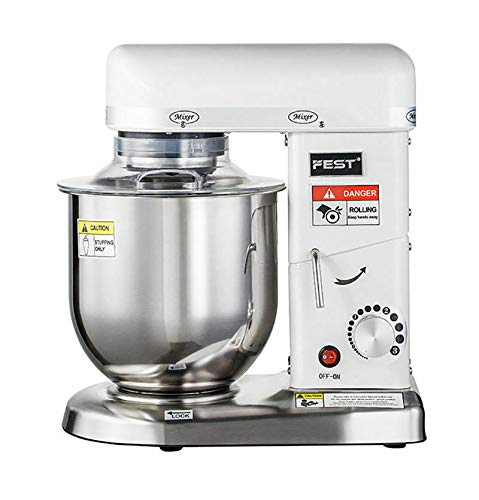 FINCOS Professional Electric Stand Dough Mixer Commercial Dough Kneading Mixer 7L 220V 50Hz
