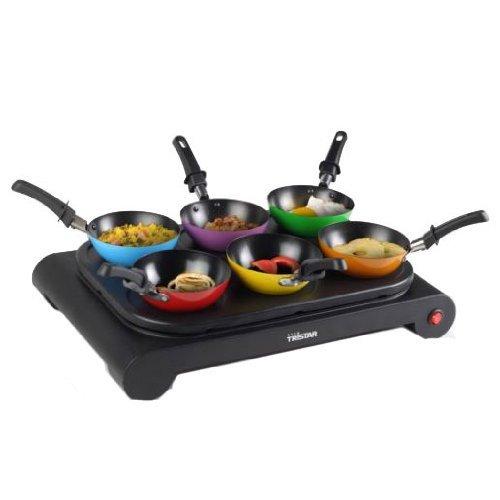 TRISTAR BP-2827 Wokset 6 farbige wokpfanne - Crepe - Bratpfann