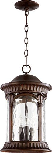 (Quorum Lighting 7902-3-86, Riviera Cylinder Pendant, 3LT, 60 Watts, Oiled Bronze Oiled Bronze)