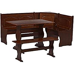Essential Home Walnut Emily Breakfast Nook