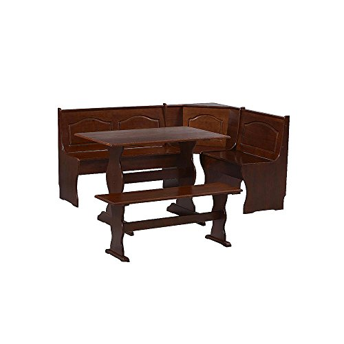 Essential Home Walnut Emily Breakfast Nook (Bench Breakfast Cushions Nook)