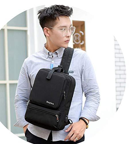 Zaino bag viaggio Chest Multifunzionale per il alta borsa Usb ad Cargo Wma libero capacit Men tempo da impermeabile mv8wNn0