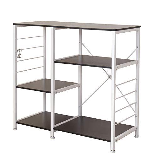 Soges Multi-layers Kitchen Baker s Rack Utility Microwave Oven Stand Storage Cart Workstation Shelf, Black 171-BK