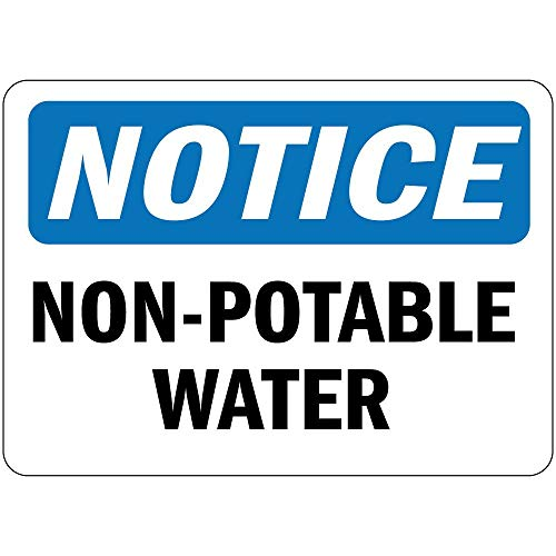 Label Decal Sticker Notice Non Potable Water Vinyl Durability Self Adhesive Decal Uv Protected & Weatherproof