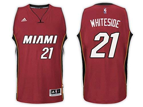Hassan Whiteside Miami Heat Red Adidas Alternate Swingman Jersey (Medium 10/12)