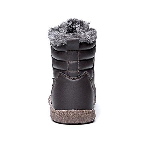 Marrone Pelliccia in Inverno Stivali Pelle Donna Impermeabile da Uomo Scarpe Neve Stivaletti TQGOLD Caldo p6OAOq