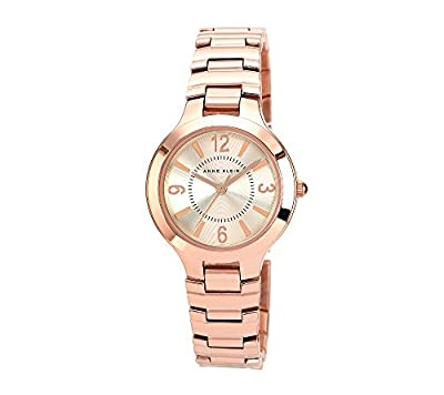 Anne Klein Women's Modern Link Rose Goldtone Bracelet Watch