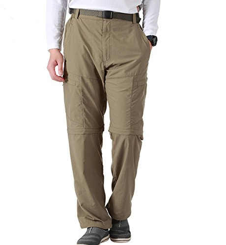 KAEHONYCOCO Men's Outdoor Quick-drying Convertible Cargo Pants Hiking Trousers With Belt US Size US Size XL