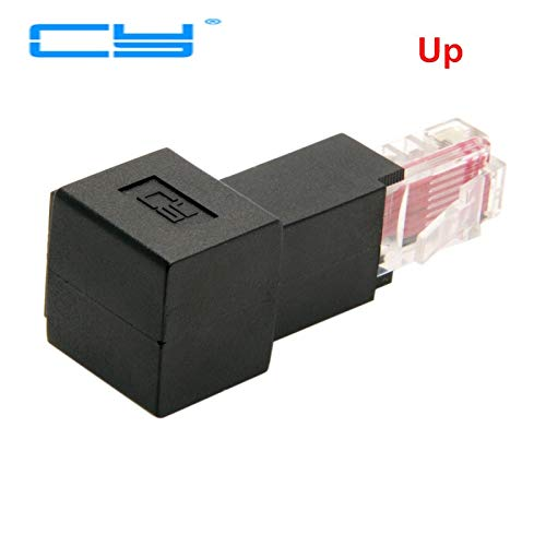 RJ45 Multi-angle Cat 5e Male to Female Network Lan Ethernet Extension Adapter