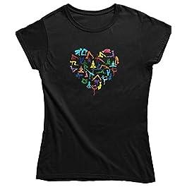Live2Inspire Yoga Poses Heart Ladies Mens Yoga T Shirt (Y23) Women's Yoga top, Yoga Clothing, Spiritual Clothing, Yoga…
