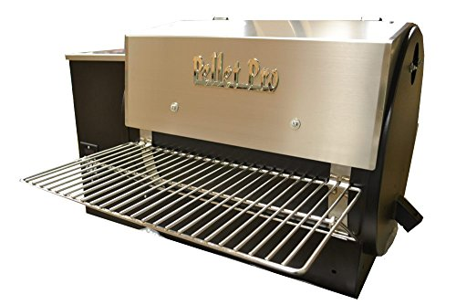 Pellet Pro 34″ x 12″ Stainless Steel Folding Front Pellet Grill Shelf for Traeger, Camp Chef, etc.