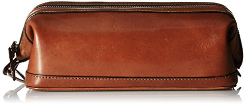Bosca Old Leather Zipper Utility Kit (Cognac) by Bosca
