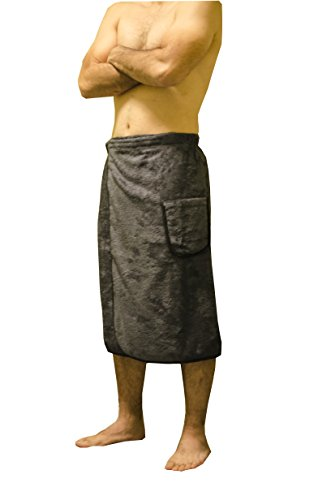 Soft & Softly Spa Wrap For Men's Terry Shower & Bath Towel, Made In Turkey - - Wrap Mens