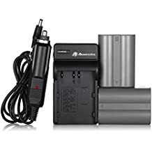 EN-EL3E Powerextra 2x Replacement Nikon EN-EL3E Battery and Charger for Nikon D50, D70, D70s, D80, D90, D100, D200, D300, D300S, D700 D900 Digital Cameras (Free Car Charger Available)