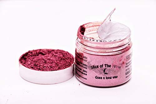 Amaranth Mica Powder 1oz, Metallic Burgundy Powder, Cosmetic