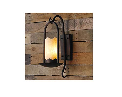 (Marble Lamp Wall Iron Retro Wall Lights Candlestick Antique Candle Holder Aisle Bar Balcony Stairs Wall Sconces Loft Industry Wall Lighting Fixture E27 (Excluding Lights))