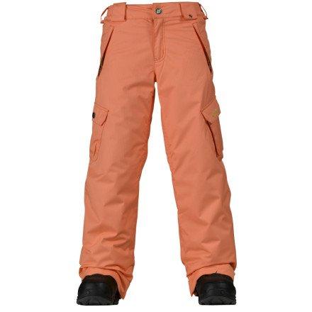 Burton Elite Cargo Pant - Girls' Mango Tango, S (Burton Cargo Elite)