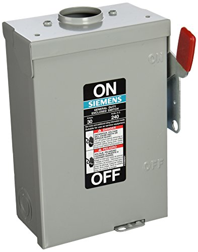 SIEMENS GF221NRU 30 Amp, 2 Pole, 240-Volt, Cartridge Fused, General Duty, W/N Outdoor Rated ()