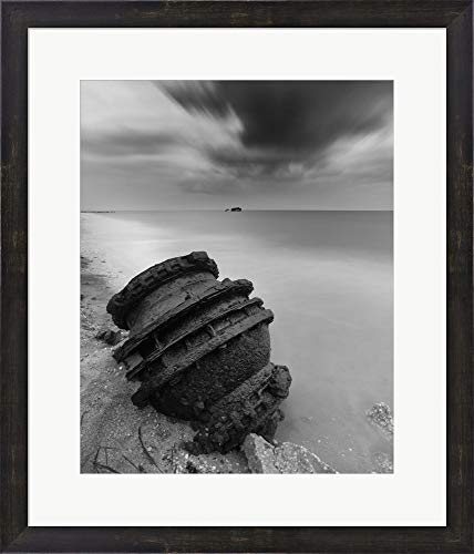 Bombe by Geoffrey Ansel Agrons Framed Art Print Wall Picture, Espresso Brown Frame, 21 x 25 inches