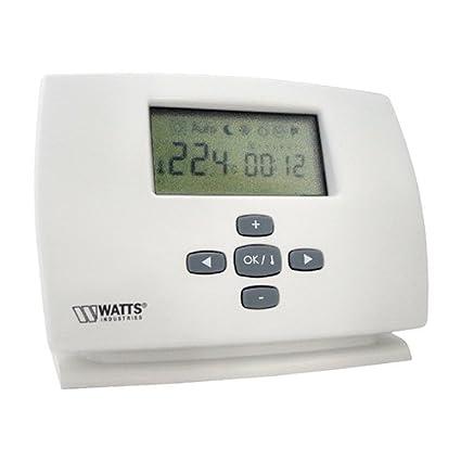 Watts termostato de – Termostato digital para fijo – Reloj diaria – milux