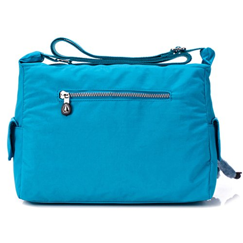 Bag Blue Cross Sports Light TianHengYi Sky body Fabric Multiple Messenger Zipper Womens Shoulder Nylon Bag Pockets nzZa1wCTq