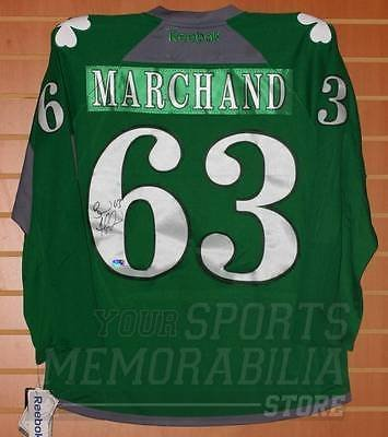 super popular 41ef4 9f164 Brad Marchand Boston Bruins Signed Autographed St. Patrick's ...