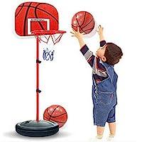 لوح كرة سلة صغير مع شبكة داخلي وقابل للتعديل، صندوق لعبة كرة سلة صغيرة للاطفال