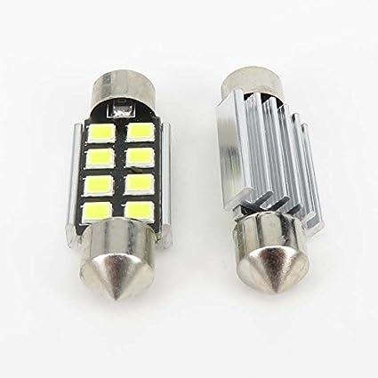 Aquiver - Bombillas LED C5W 2835SMD, blanco puro, 36mm,