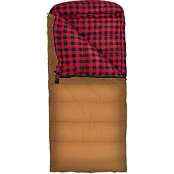 TETON Sports Deer Hunter Sleeping Bag; Warm and Comfortable Sleeping Bag Great for Camping Even in Cold Seasons; Brown, Left Zip